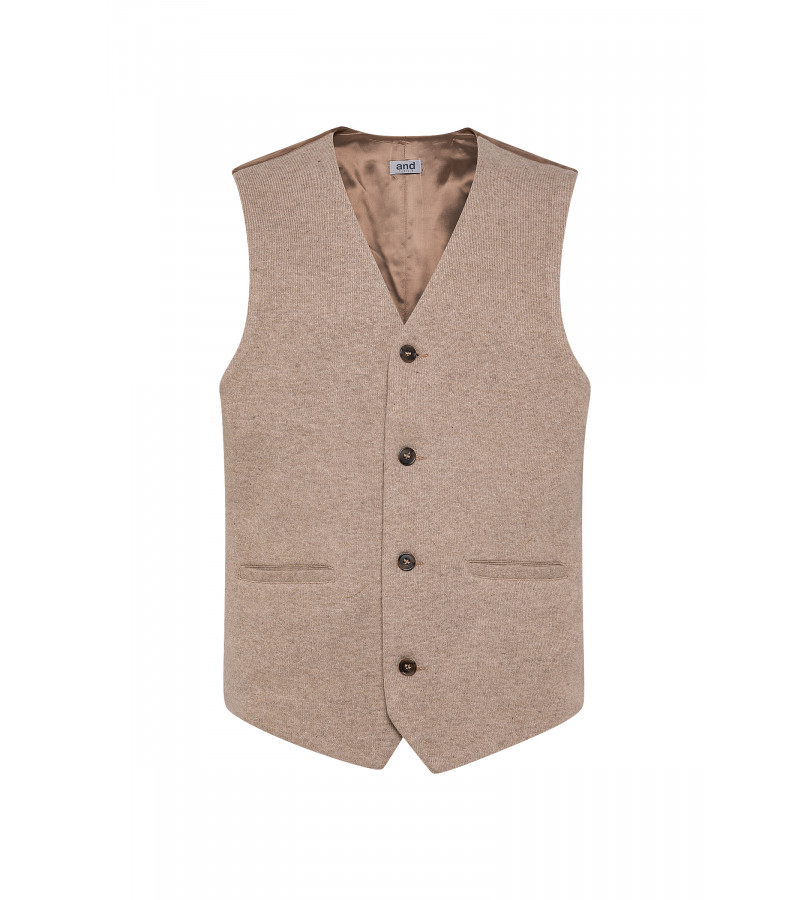 GILET IN JERSEY/CACHEMIRE