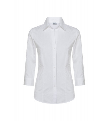 CAMICIA SCOLLO A V SUPER STRETCH