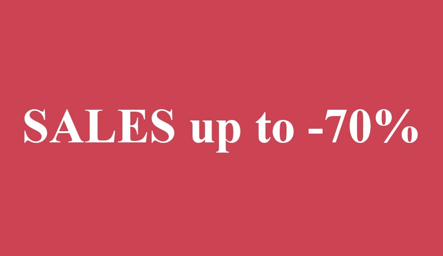 Sales 5up to -70%