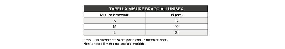 tabella misure bracciali